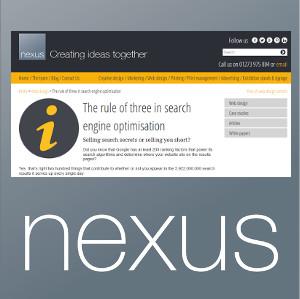 nexus search engine optimisation article