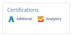 Google Adwords and Analytics certifications