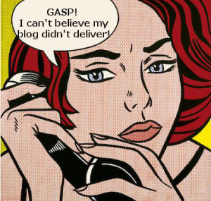 pop art woman upset her blog didn´t deliver