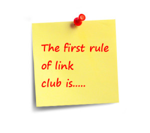link building motto on post it note