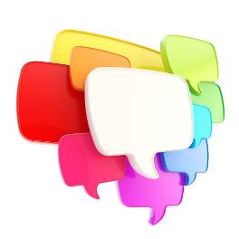 social conversation speech bubbles icon for social media management brighton