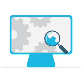 magnifying glass studying web page for onpage seo services brighton