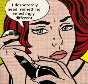 pop art image of woman on phone discussing email solutions