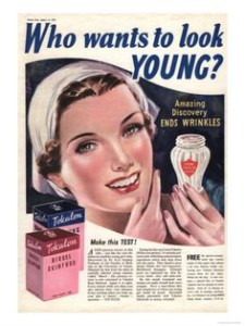 30s ad for skin cream
