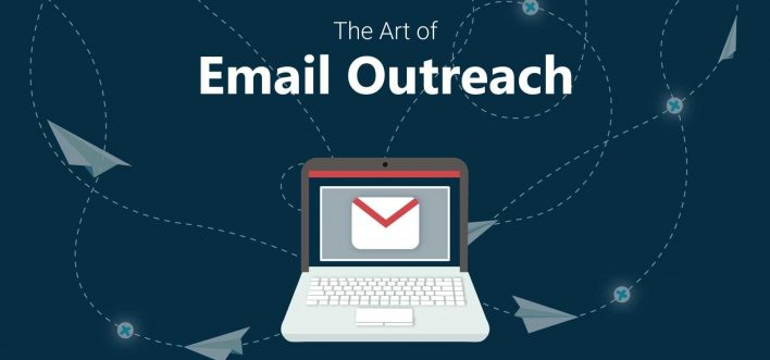 outreach email on pc